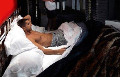 hot italian guys andrea vasa naked in bed bikkembergs