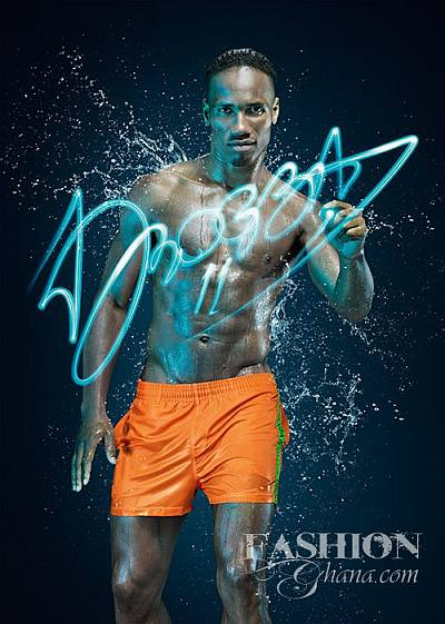 Didier Drogba shirtless