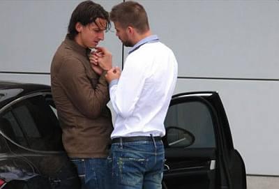 Zlatan Ibrahimovic and Gerard Pique Gay Lovers