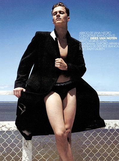 aj abualrub underwear model - ny fashion week show package
