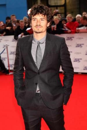 Celebrities Wearing Burberry Suit and Tie Orlando Bloom