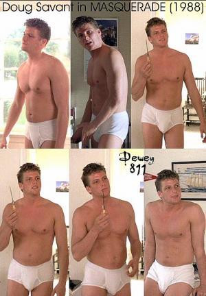 doug savant shirtless in underwear - white briefs