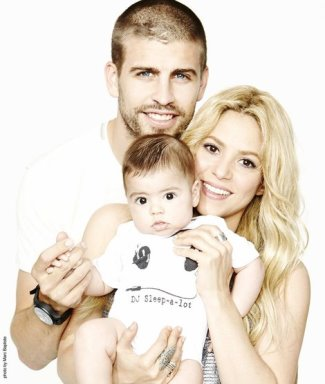gerad pique family - with baby milan and partner shakira