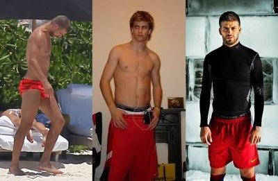 gerard pique speedo shirtless young nike pro model