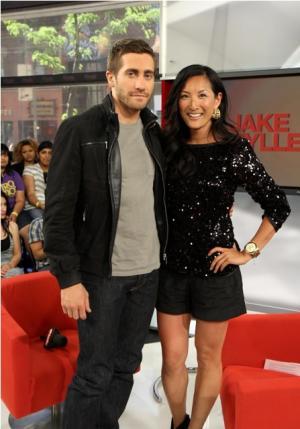 jake gyllenhaal fashion style watch - denim jacket - e talk