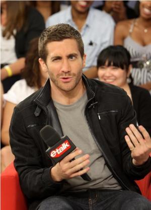 jake gyllenhaal fashion style watch - denim jacket