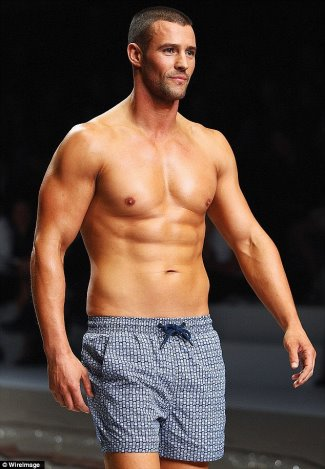 kris smith shirtless runway model for myer