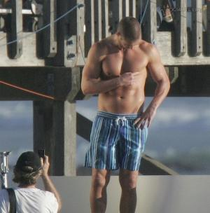 kris smith shirtless in shorts