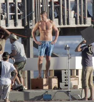 kris smith shirtless short pants