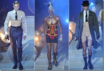 mens corsets by john galliano