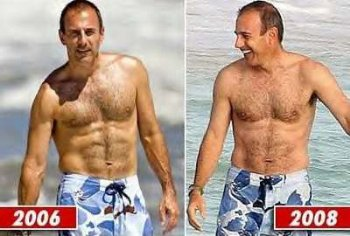 matt lauer shirtless