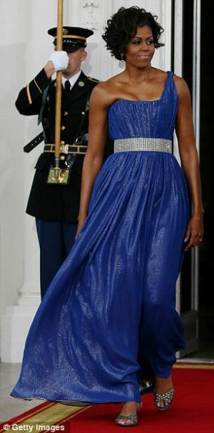 michelle obama one shoulder dresses