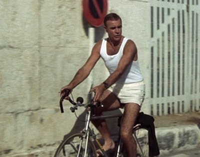 men in white boxer shorts - sean connery