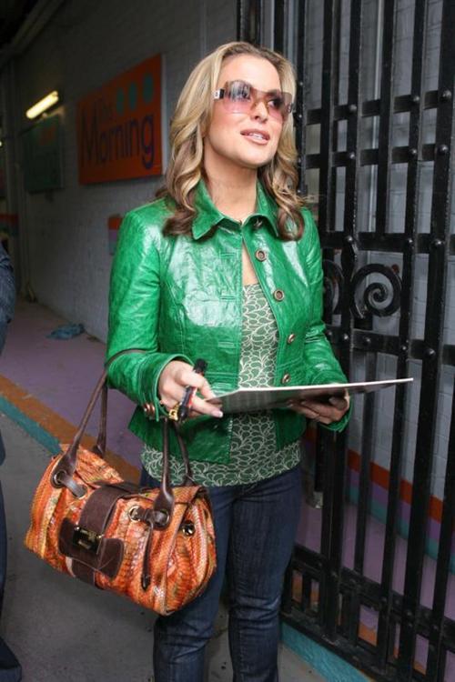 green leather jacket anastasia