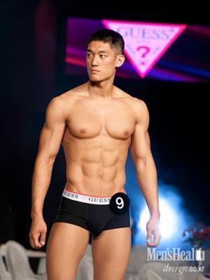 korean male model underwear by guess