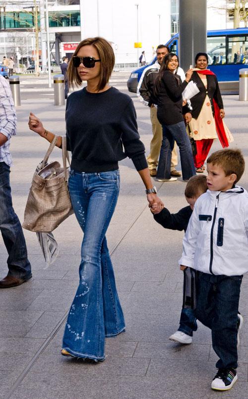 victoria beckham jeans bellbottoms
