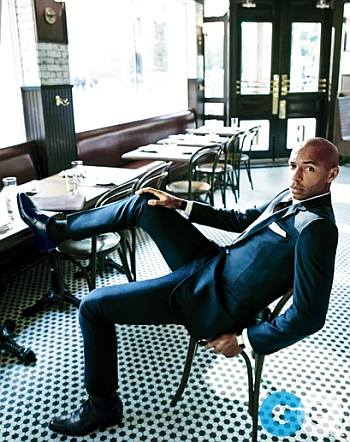 hot guy in suit - thierry henry - hermes