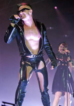 jake shears underwear - leather thong