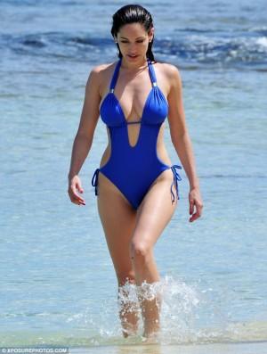 kelly brook swimwear - sexy one-piece