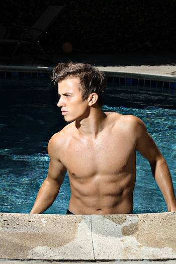 kenny wormald shirtless in pool