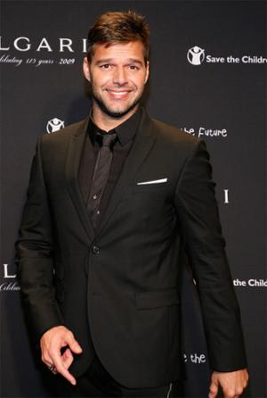 hot guys in suit and tie ricky martin black suit