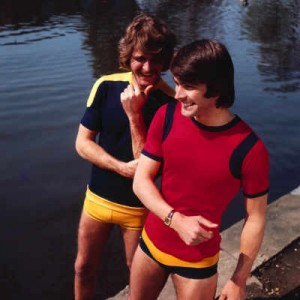 vintage swimsuits for men - yellow speedo