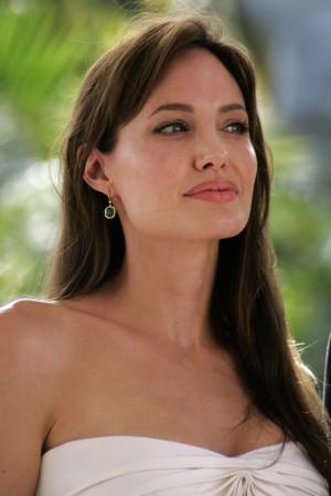 celebrity strapless dress angelina jolie