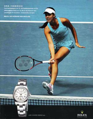 Celebrities Wearing Rolex Lady Datejust Watches Ana Ivanovic