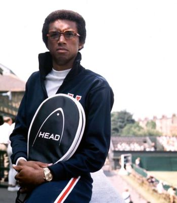 famous men with rolex - arthur ashe