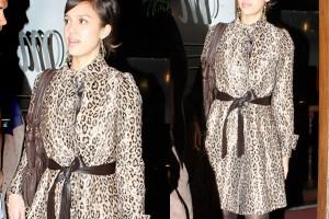 leopard print dresses jessica alba