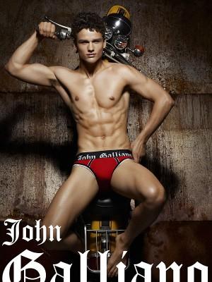 top male models simon nessman underwear for galliano