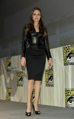 Sexy Leather Jacket for Women seen on Angelina Jolie