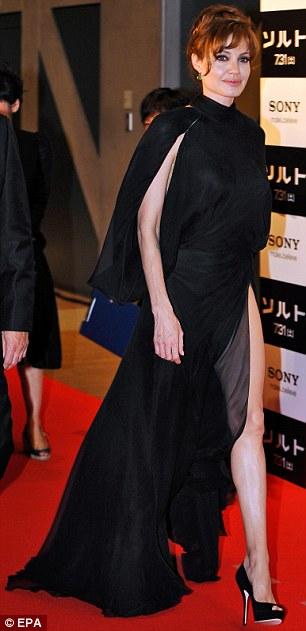 celebrity black dress versace