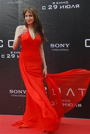 versace red dress red carpet angelina jolie