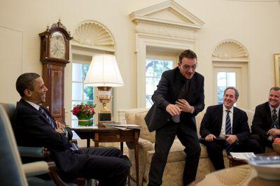 celebrities wearing rolex day-date watches - bono obama