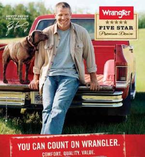 Mens Wrangler Jeans Brett Favre