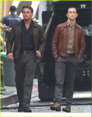 leonardo dicaprio fashion - inception leather jacket
