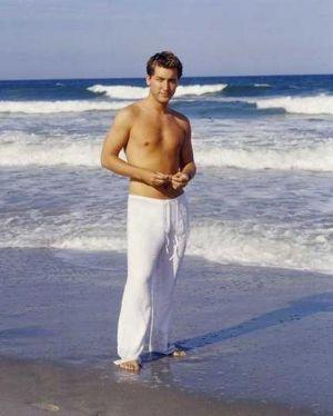 lance bass shirtless beach
