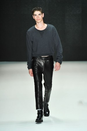 black leather pants for men by Blaak