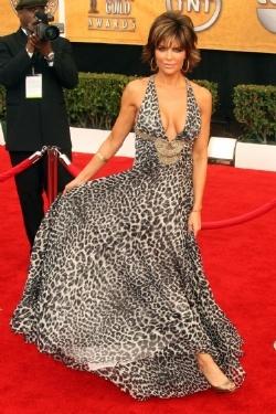 lisa rinna leopard print dress