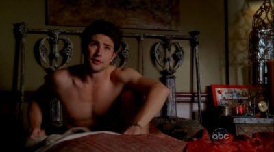 matt dallas shirtless in bed eastwick
