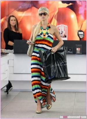 paris hilton fashion maxi dress