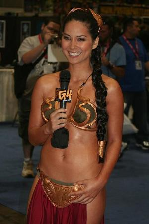celebrities as princess leia in gold bikini