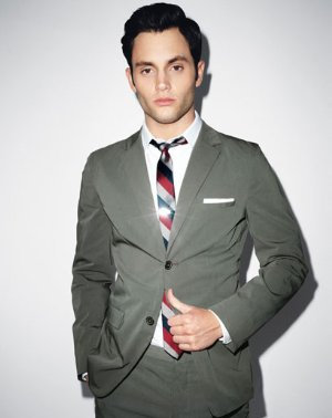 penn badgley style jil sander suit
