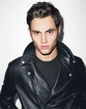 penn badgley style leather jacket