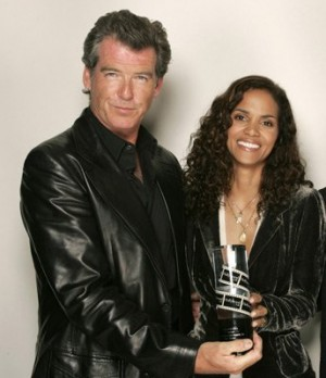 pierce brosnan leather jacket young hollywood