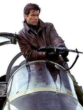 pierce brosnan leather jacket james bond