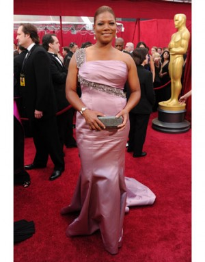 one shoulder dresses on queen latifah