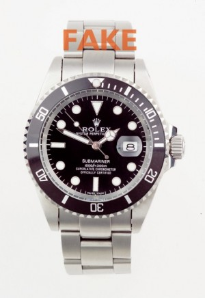 genuine vs fake rolex submariner