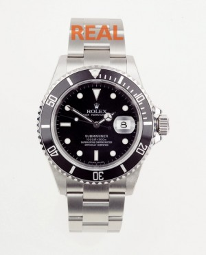 rolex submariner genuine vs fake